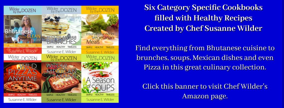 Susanne Wilder's 6 cookbooks